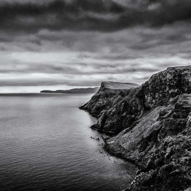 """""""Skye coastline"""" stock image"""