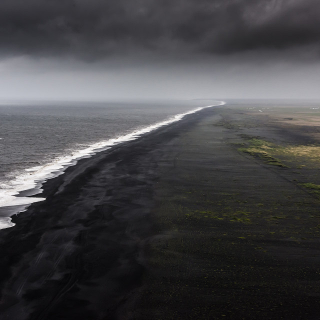 """Black-Sand Beach"" stock image"