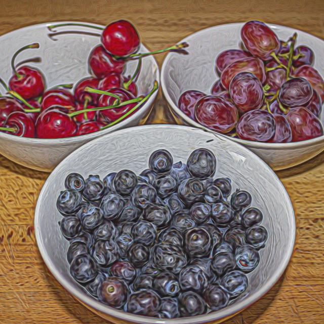 """""""Fruit Bowls"""" stock image"""