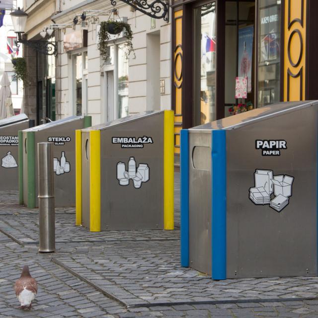 """Recycling Units, Ljubljana"" stock image"