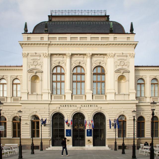 """National Gallery of Art, Ljubljana, Slovenia"" stock image"