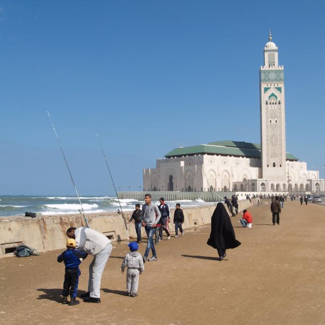 """Seafront, Casablanca"" stock image"