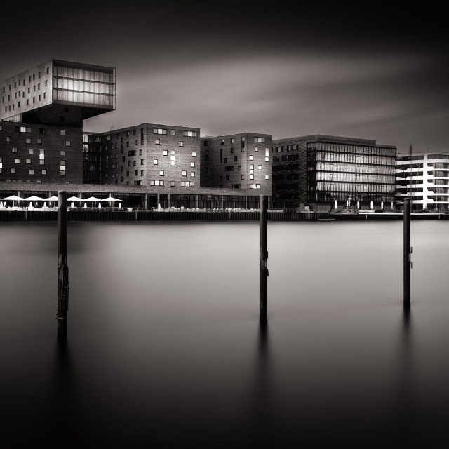 """Berlin Skyline b&w fineart"" stock image"