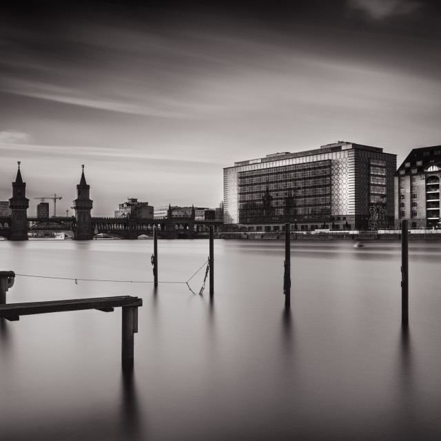"""Oberbaumbridge Berlin b&w"" stock image"