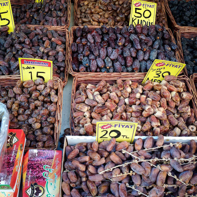"""Dried Fruit at market, Istanbul"" stock image"