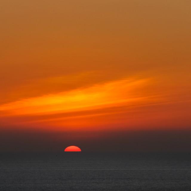 """Sunset, Puerto Lopez, Ecuador"" stock image"