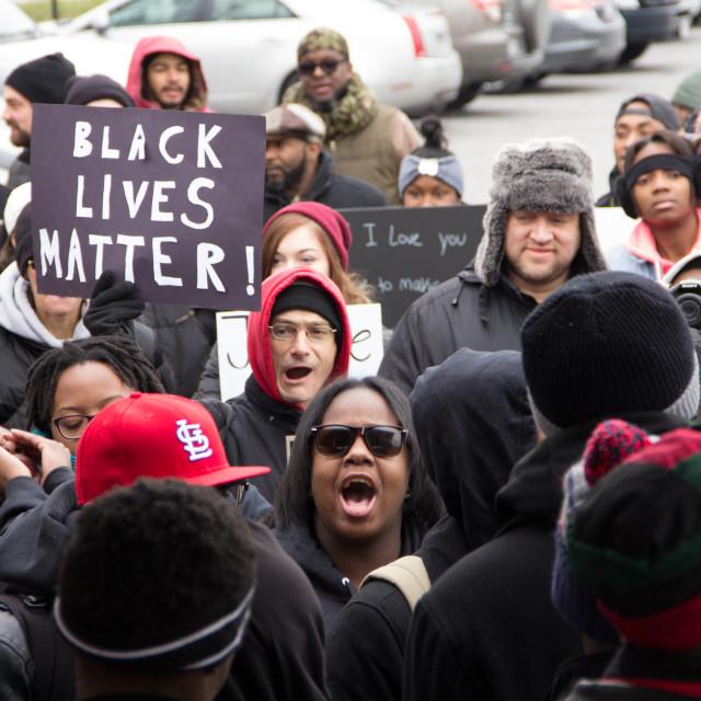"""""""Black Lives Matter Activists, Cleveland"""" stock image"""