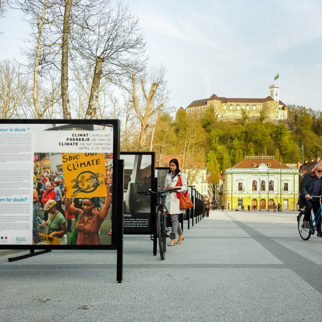 """Outdoor Photo Exhibit, Ljubljana"" stock image"