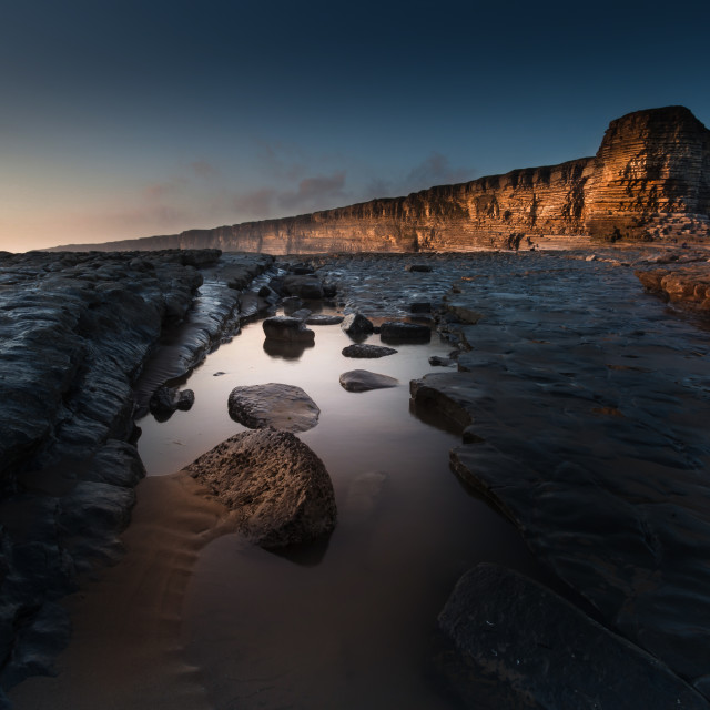"""Nash Point Rock Pool"" stock image"