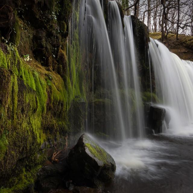 """Sgwd Ddwli Uchaf waterfalls"" stock image"