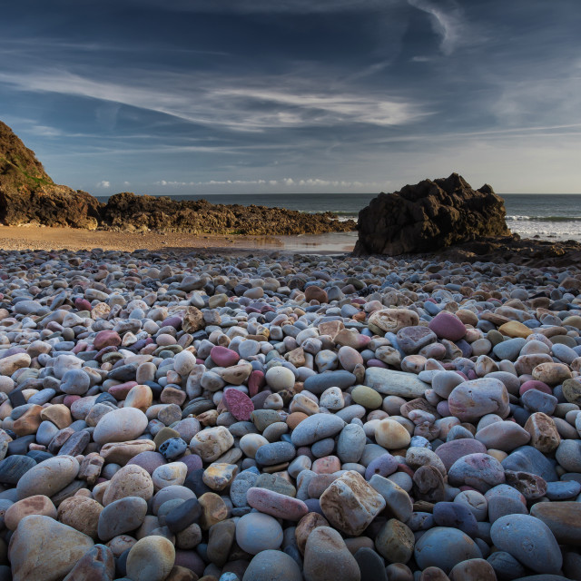 """Rotherslade Bay Pebbles"" stock image"
