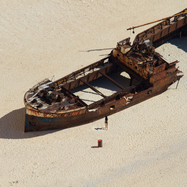 """Shipwreck Navagio beach in Zakynthos island"" stock image"