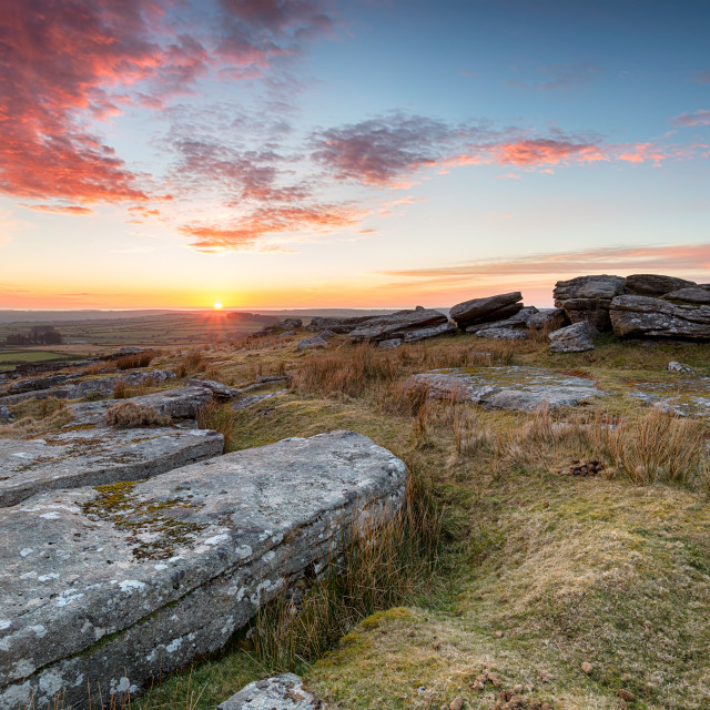 """""""Sunset Over Bodmin Moor"""" stock image"""