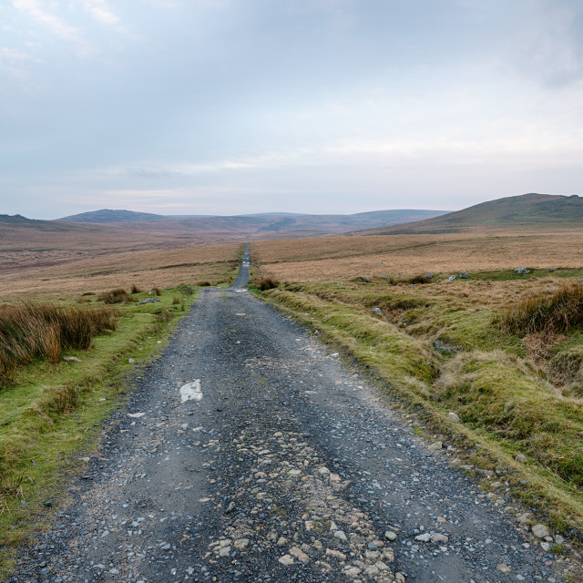 """""""Lonely Country Road"""" stock image"""