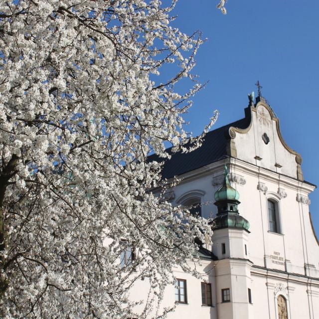"""Kraków's Skałka & Pauline Monastery in spring"" stock image"