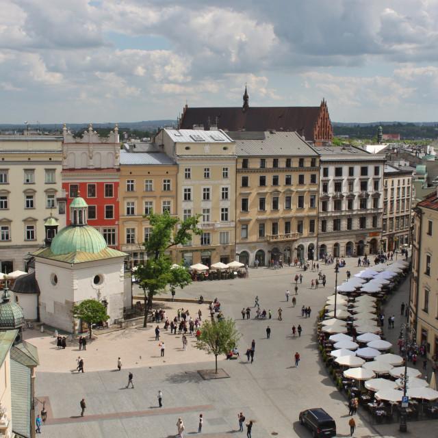 """Krakow Market Square"" stock image"