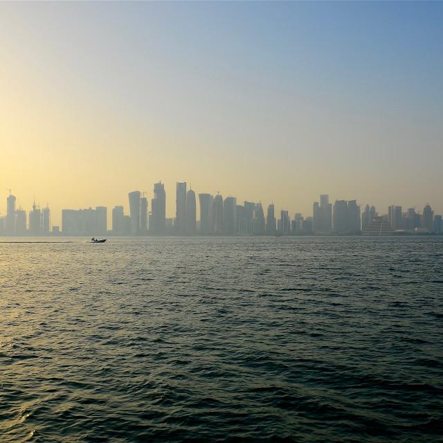 """""""Landscape of Doha"""" stock image"""