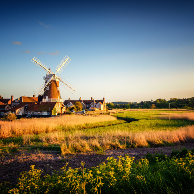 """Cley Next To Sea Windmill"" stock image"