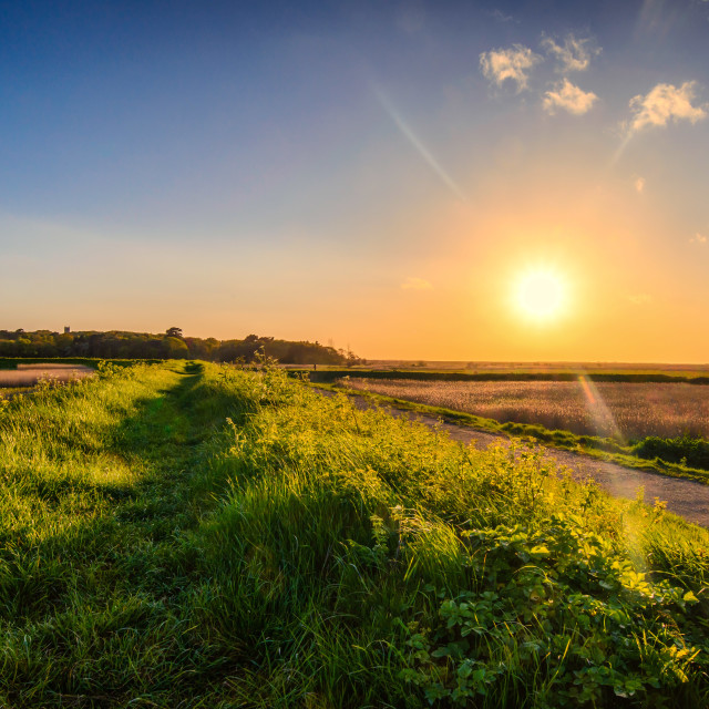 """Coastal Sunset walk North Norfolk"" stock image"