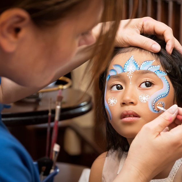 """Face Painting"" stock image"