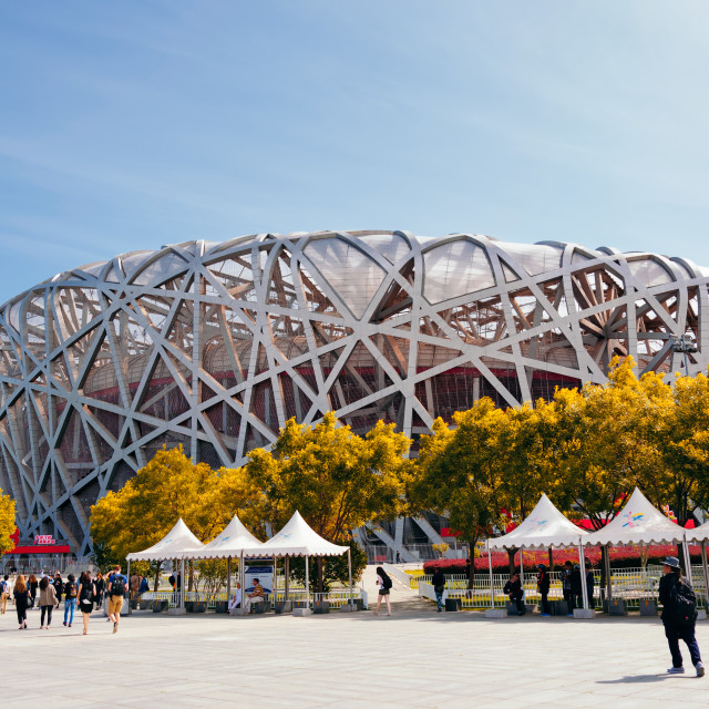 """Beijing National Stadium"" stock image"