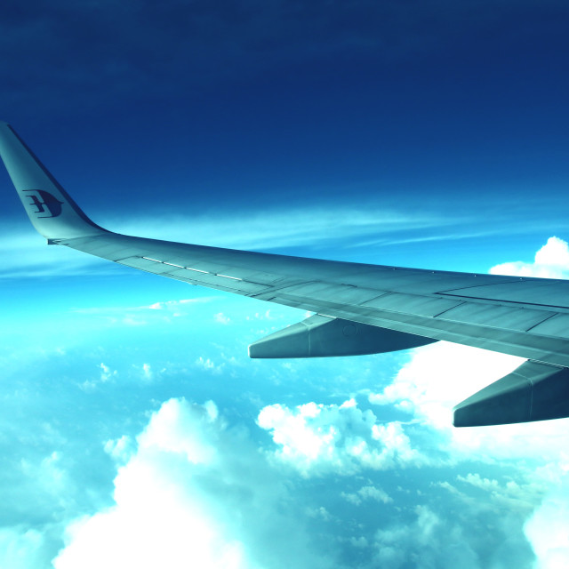 """Along the wing"" stock image"