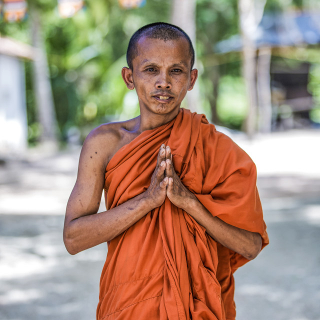 """The monk"" stock image"