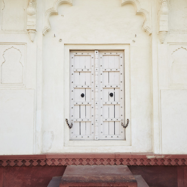 """Agra Fort doorway"" stock image"