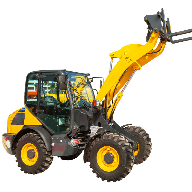 """""""Wheel loader machinery construction equipment isolated"""" stock image"""