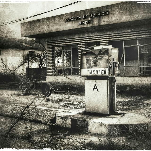 """gasolinera abandonada"" stock image"