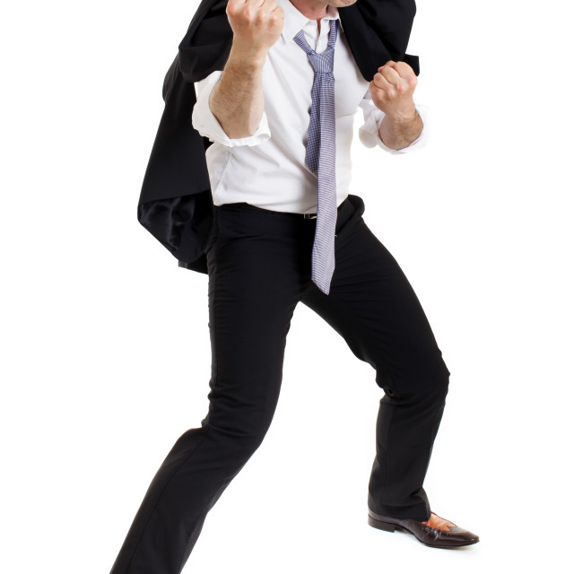 """""""Belligerent angry man"""" stock image"""