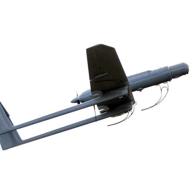 """uav army plane isolated"" stock image"