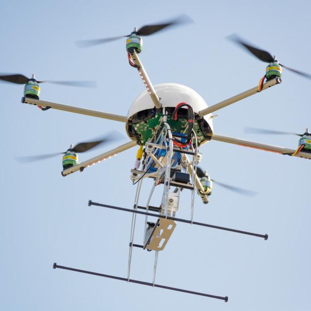 """""""uav drone in sky"""" stock image"""