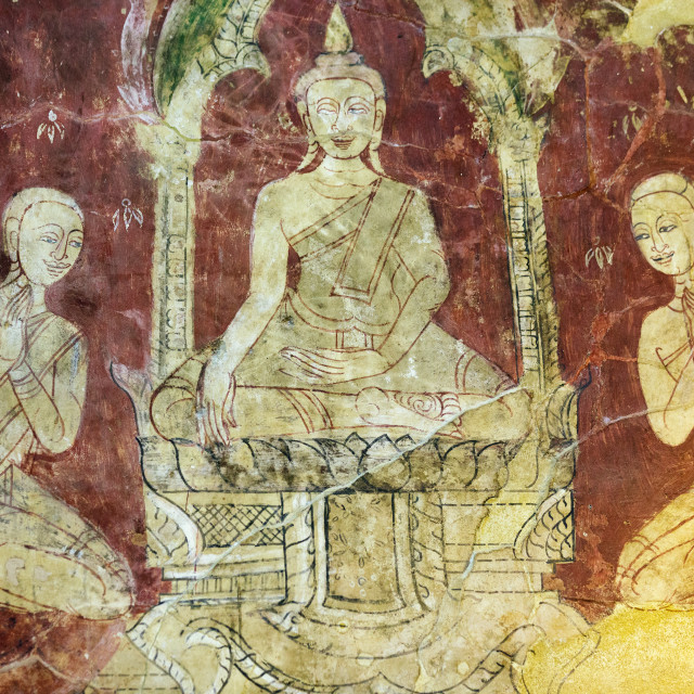 """Old Buddhist paintings"" stock image"