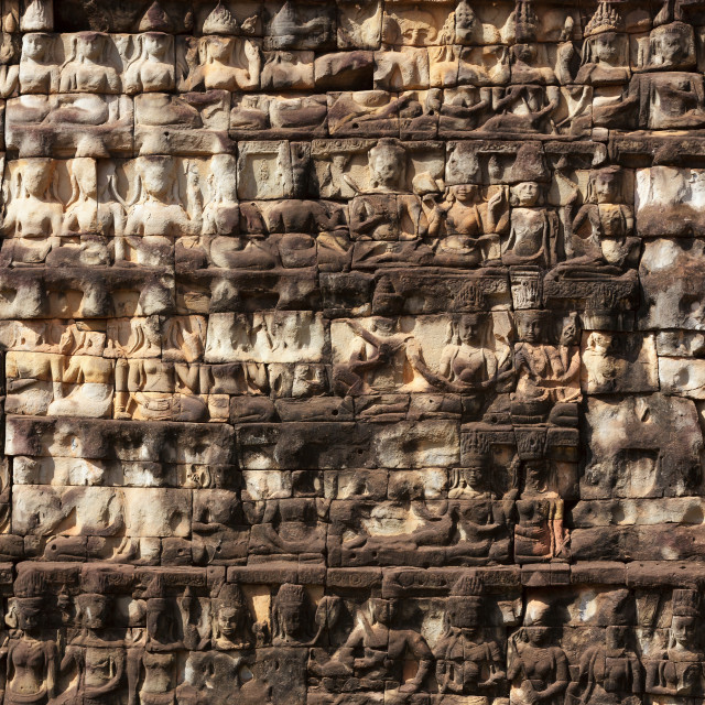 """Carved temple wall"" stock image"