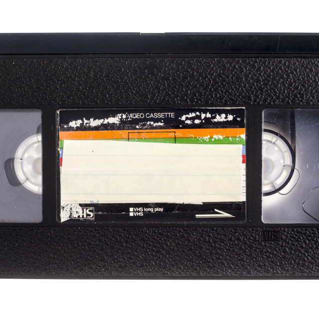 """""""VHS Video Cassette Tape"""" stock image"""