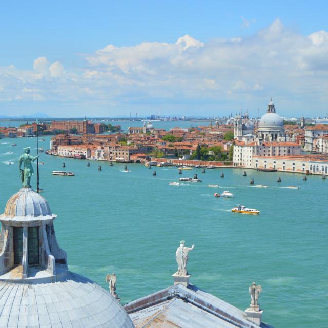 """Guarding Venice"" stock image"