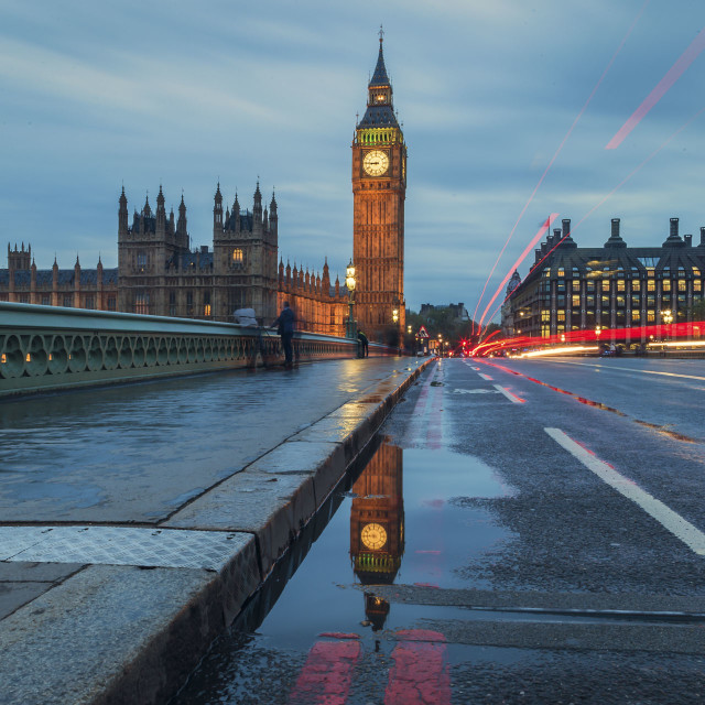 """Big Ben Reflection"" stock image"