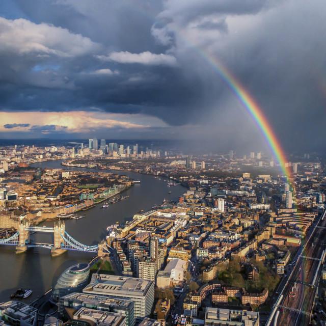 """""""London's Double Rainbow"""" stock image"""