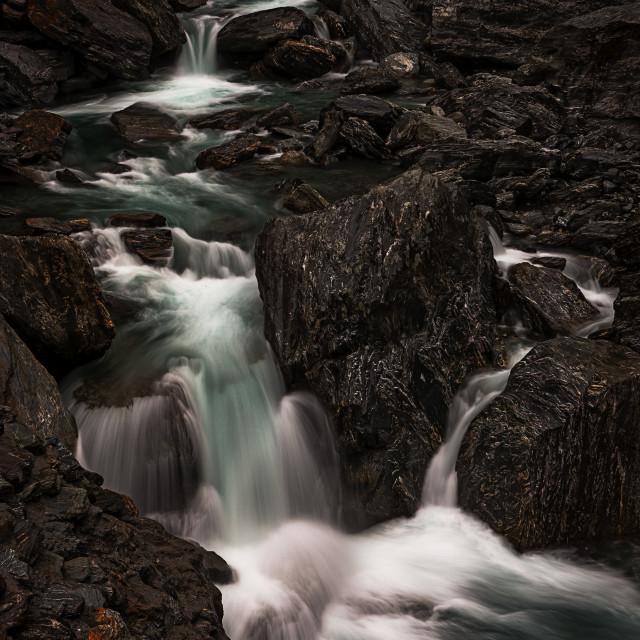 """Cascading Falls"" stock image"