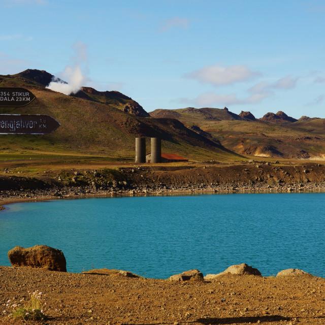 """Icelandic Lake"" stock image"
