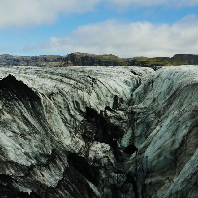"""Glacial Crevasse"" stock image"