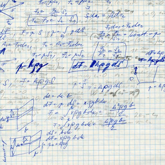 """math on the sqare paper f"" stock image"
