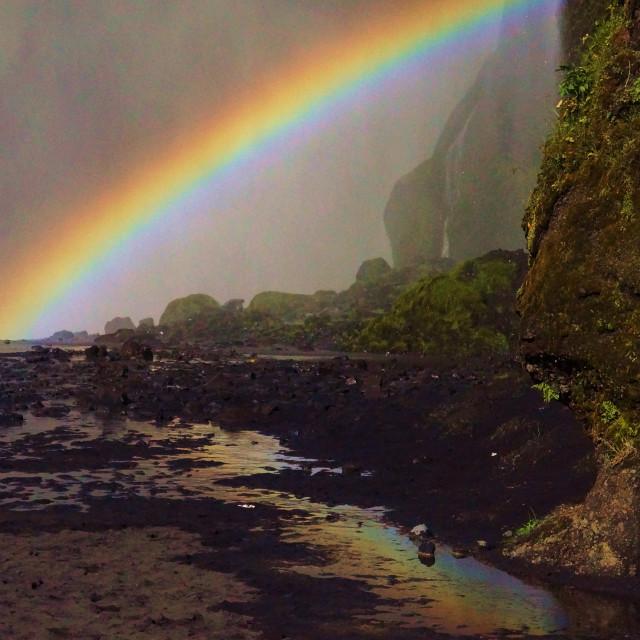 """Rainbow Reflection"" stock image"