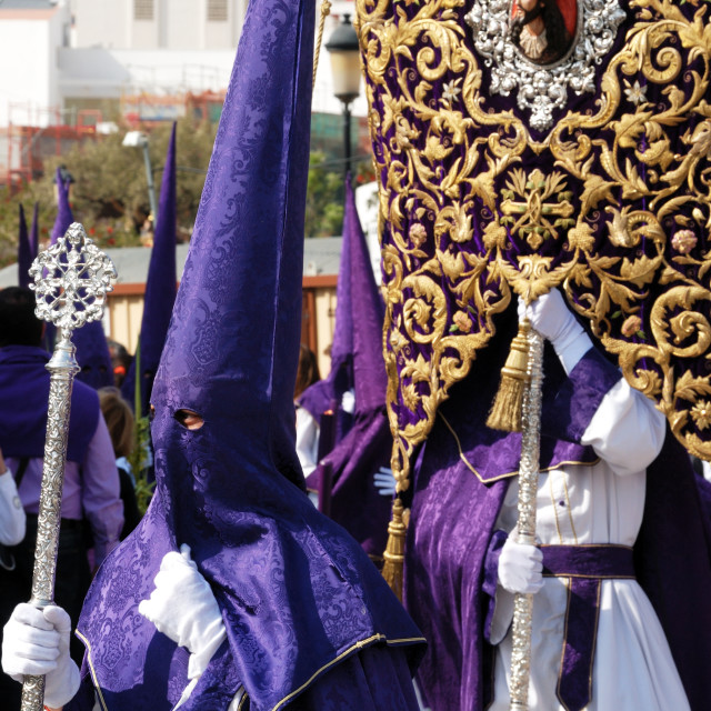 """Santa Semana procession in Malaga, Spain"" stock image"