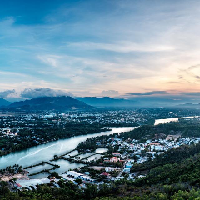 """View of Cái River - Nha Trang - Việt Nam"" stock image"