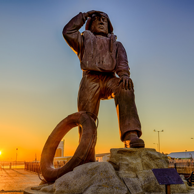 """RNLI Statue - Looking Out"" stock image"