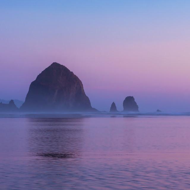 """""""Haystack Rock"""" stock image"""
