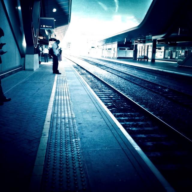 """Railway platform"" stock image"