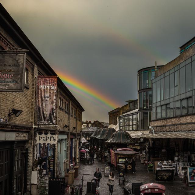 """Camden Rainbow"" stock image"